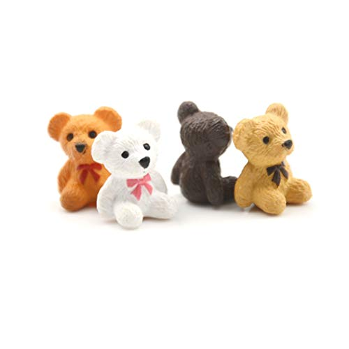 ZAMTAC 4pcs/Lot 1/12 Dollhouse Miniature Accessories Mini Bear Simulation Miniature Animal Toy Furniture for Doll Home Decoration from ZAMTAC