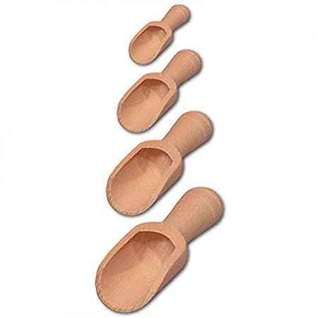 Hofmeister Gewurzschaufelchen Set 4 Teilig Aus Holz 15 Cm Amazon