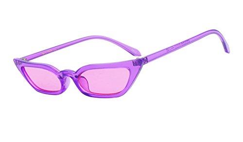 Mujer Negro Gafas Gato Mujeres sol Uv400 Transparente Limotai de Gafas C01 Gafas Ojos Sol Gafas Morado C04 De Lentes Nueva De 4B64qfn7CW