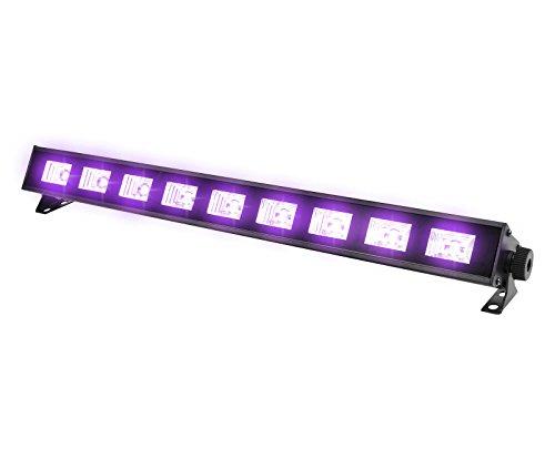 Barra Led Uv Mitzu MSL-9066 9 Hyper Leds 30w Ultravioleta Luz Negra Neon