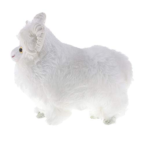 - Fityle Realistic Goat Ornaments Simulation Sheep Doll Animal Model Home Decoration
