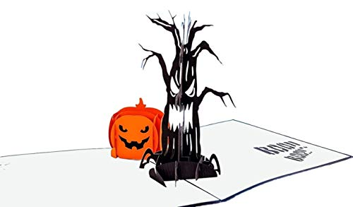 iGifts And Cards Halloween Spooky Tree and Jack-O-Lantern