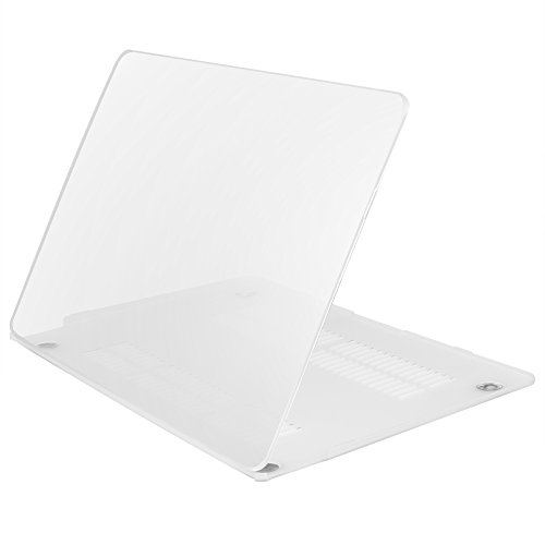 iDOO Matte Rubber Coated Soft Touch Plastic Hard Case for Macbook Air 13 inch Model A1369 and A1466 Transparent - Transparent Hard Case