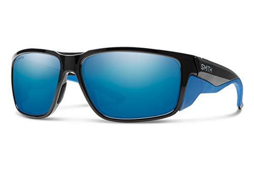Smith Free Spool Chromapop Polarized Sunglasses, Black Imperial Blue, Chromapop Polarized Blue Mirror