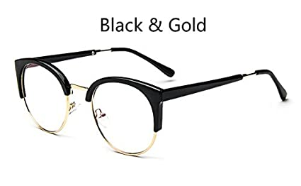 80080c1452dd Image Unavailable. Image not available for. Colour  BuyWorld Cheap Brand  Fashion Metal Glasses Frame Retro Woman Men Reading Glass Frame UV  Protection Clear