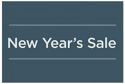 CGSignLab 5-Pack New Years Sale Basic Navy Window Cling 27x18