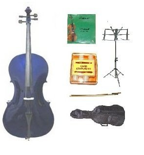 GRACE 1/2 Size PURPLE Cello with Bag and Bow+Rosin+Extra Set of Strings+Tuner+Music Stand by Merano