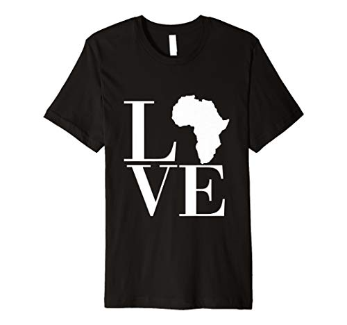 Love Africa - Continent - Fitted T-Shirt - Multiple Colors ()