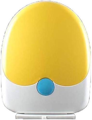 HZDXT 便座U/ソフトクローズアジャスタブルヒンジクイックリリーストップ固定便座カバーに大人子供とVシェイプファミリートイレのふた、イエロー-34 * 42.5CM