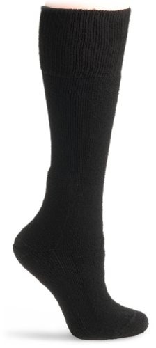 Calf Boot Socks (Thorlo Thick Padded Combat Over the Calf Sock Black L)