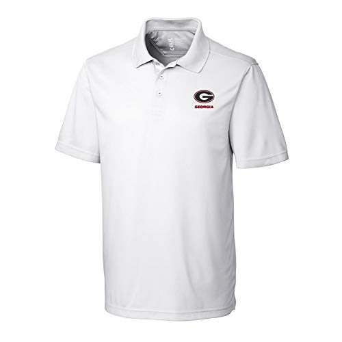 (Elite Fan Shop Georgia Bulldogs Polo Shirt White - L)