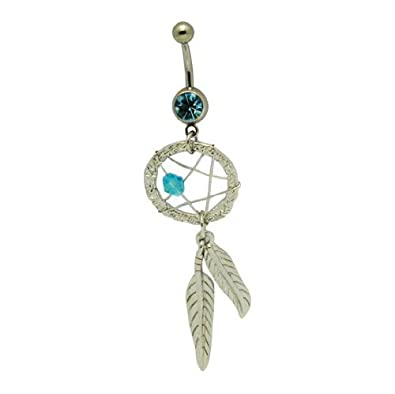 Amazon Com Bodyjewelryonline Dream Catcher Dangle Belly Ring