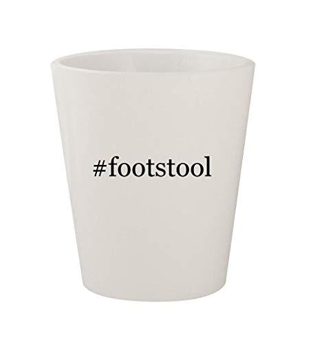#footstool - Ceramic White Hashtag 1.5oz Shot Glass (Ottoman Mission Style Footstool)