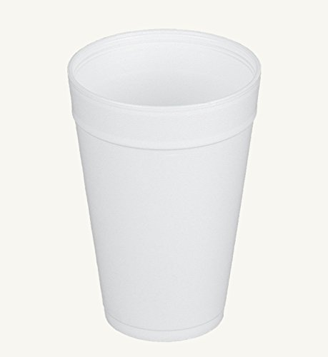 Dart 32TJ32, 32 Oz. Customizable White Foam Plastic Cold And Hot Beverage Cup with Translucent Vented Plastic Lid, Disposable Take Out Drink Cups with Matching Covers (50) ()