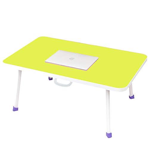 Mesa para Ordenador Plegable Soporte, Mesa Ajustable Mesa de Cama para Portatil para Cama Sofa Jardin Parque,Verde