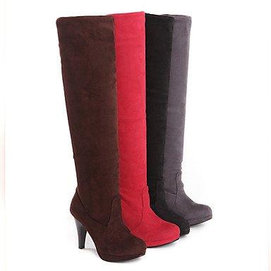 Botas de Mujer Otoño Invierno Comfort polipiel vestir casual tacón cono hebilla caminando Black