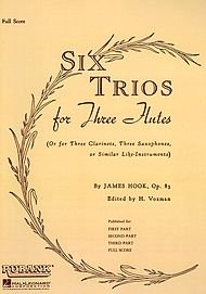Six Trios for Three Flutes Full Score, Op. 83 ()