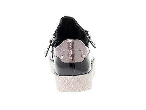 London Femme Baskets Crime Noir Cuir 25923a1720 R4xwn8d