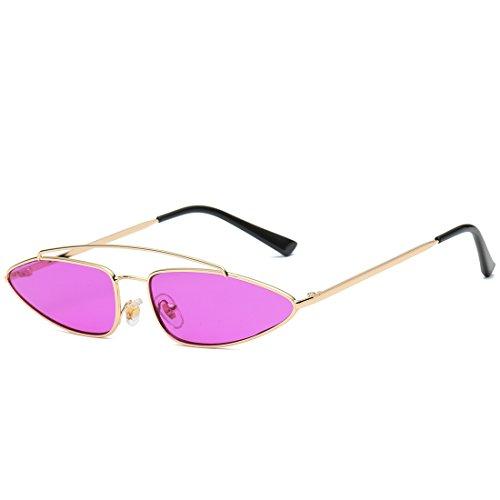 Plat Lunettes Purple Femmes Purple Frame Frame métal Miroir à et Gold Gold Hommes Lens lentille aviateur Sakuldes de Cadre Soleil Lens en Color 1qCOxEtgw