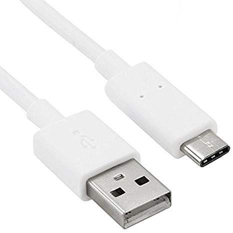 Cable Tipo USB a C del Cargador, Color Blanco, 1.2 MT. Sin Embalaje Exterior, Compatible con Samsung Galaxy. Nota 9 / Nota 8 / S9 + / S9 / S8, Samsung ...