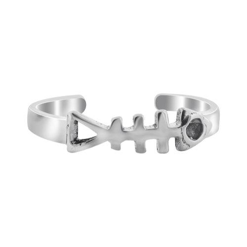 Gem Avenue 925 Sterling Silver Fish bone Toe Ring for (Gem Avenue Toe Ring)