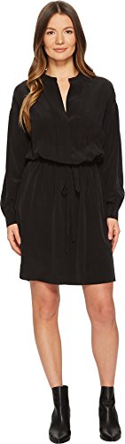 Vince Women's Shirred Sleeve Dress, Black M from Vince