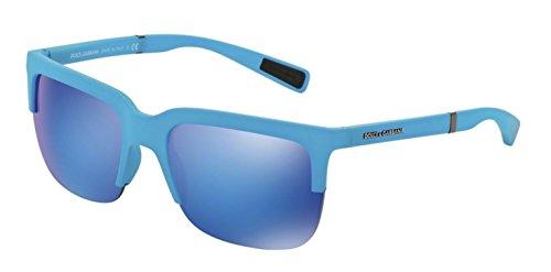 Dolce and Gabbana DG6097 301525 Azure Rubber DG6097 Wayfarer Sunglasses Lens - Dolce Sunglasses Wayfarer Gabbana And