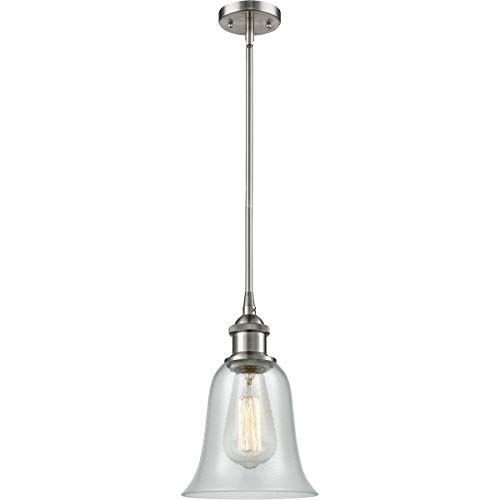 Pendants 1 Light Fixtures with Brushed Satin Nickel Finish Cast Brass Glass Material Medium 6