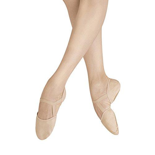 Bloch Womens Elastosplit Pi Lederen Balletschoenen Roze