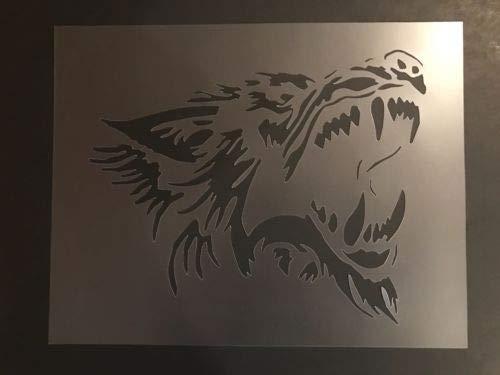 Wolf #2 Stencil Wolves, Moon, Halloween, Werewolf, Airbrushing! ()