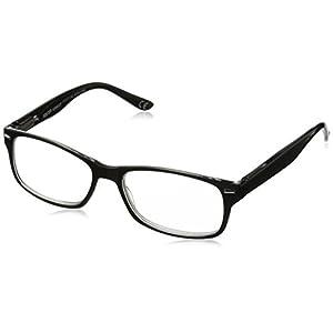 Foster Grant Men's Odie 1017554-125.COM Wayfarer Reading Glasses, black, 1.25