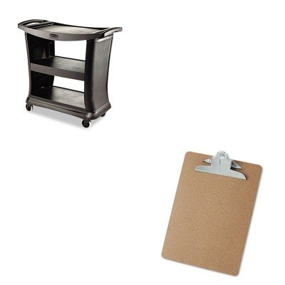 KITRCP9T6800BKUNV40304 - Value Kit - Rubbermaid Black High Capacity Executive Service Cart (RCP9T6800BK) and Universal 40304 Letter Size Clipboards (UNV40304)