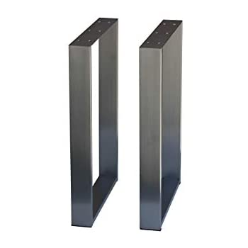 """Metal Table Legs 28/"""" U Frame Stainless Legs for Dining Table Desk Cabinet 2PC"""