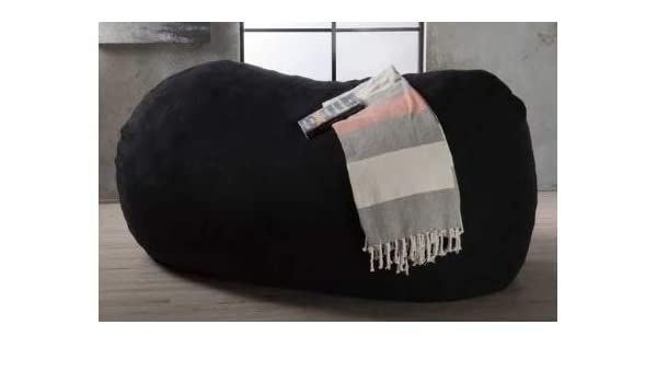 Pleasing Amazon Com Giant Bean Bag Chairs For Adults Black Faux Short Links Chair Design For Home Short Linksinfo