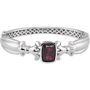 Bracelet Jonc Femme-Argent 925/1000Quartz fumé