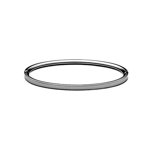 MVMT Women's Ellipse Thin Bangle Bracelet   Clasp Closure, Stainless Steel   Gunmetal - Gunmetal Bracelet Bangle