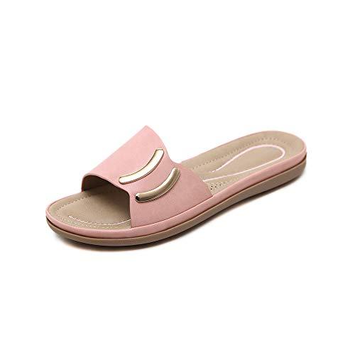 Cómodas Sandalias Verano 2018 Zapatillas Casual Moda Negro Salvajes De Zapatos Mujer TqFfzp