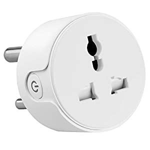 Ambrane WiFi Smart Plug 10A – Control Your Devices from Anywhere, No Hub Required, Compatible with Alexa and Google Assistant (ASP-10, White)