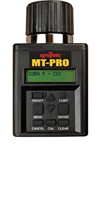 Agratronix MT-Pro Portable Moisture Tester for Grain with Digital Meter Readout and 4 Pak 9V Batteries, Grain Tester with Carry Case