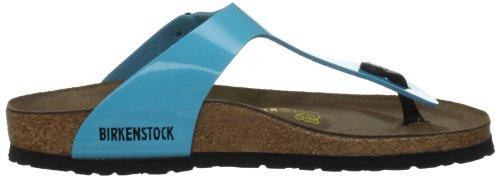 Birkenstock Womens Gizeh Birkibuc Sandals Blue Lack wvQxfw7E