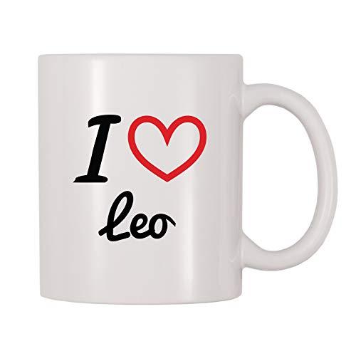 - 4 All Times I Love Leo Personalized Name Coffee Mug (11 oz)