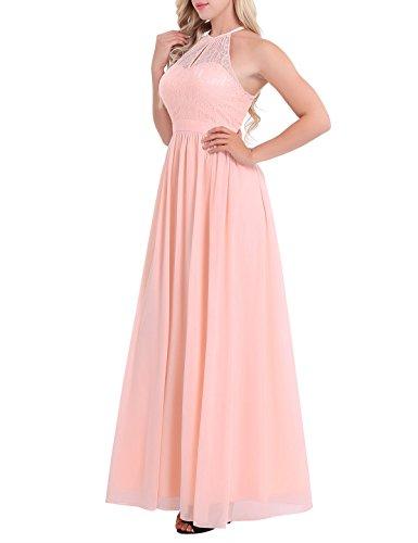 Lieblings iiniim Damen Kleid Festlich Kleid Neckholder Brautjungfer Hochzeit #KS_72