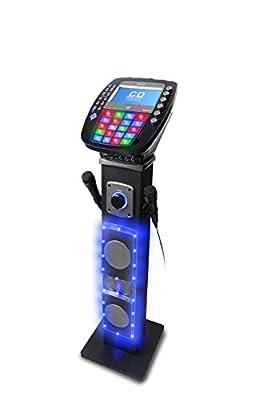Akai KS878-BT Bluetooth Pedestal CD&G Karaoke System, Black