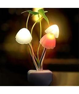 EVERYTHING IMPORTED Mushroom Shape Automatic Sensor Light (Small, White and Black)