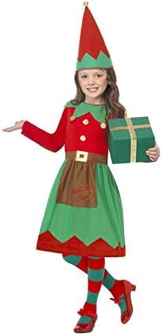 Smiffys-39104S Disfraz Infantil de ayudanta de Papá Noel, con ...