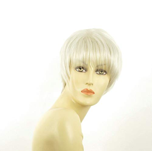 univers perruque Short Wig For Women Smooth White Ref: Louise 60
