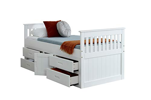 Waxed Pine Made from Brazilian Sustainable Pine Amani 3ft Single Captain Cabin Storage Solid Pine Wooden Bed Bedstead