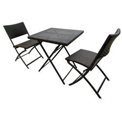 Salon de jardin pliable for Table et chaise en resine tressee pas cher