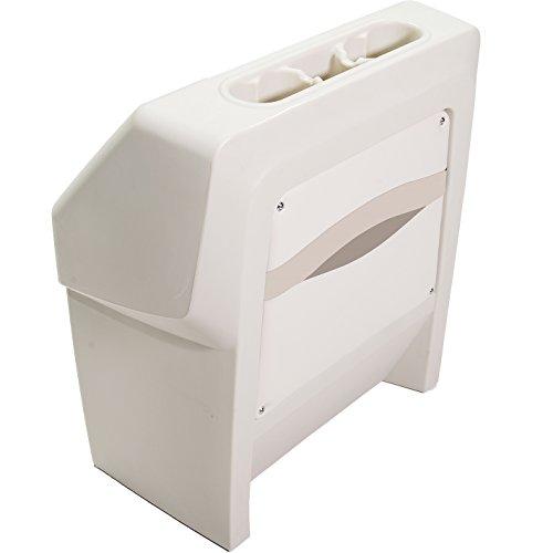 (DeckMate® Premium Pontoon Boat Console (Ivory/Tan/Beige))