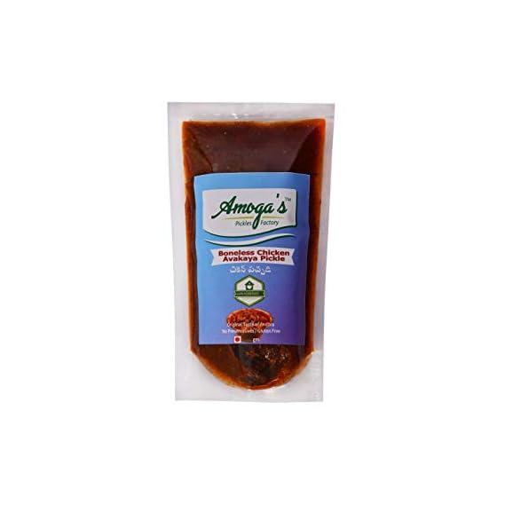 Amoga's Pickles Factory Andhra Style Homemade Fresh Boneless Chicken Pickle /Murgh Achar 300gm